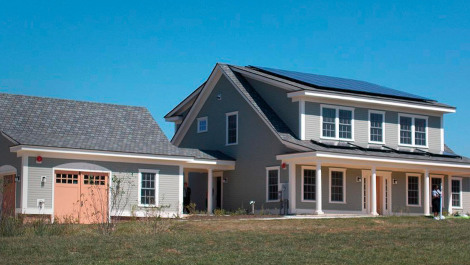 zero energy home in neighborhood