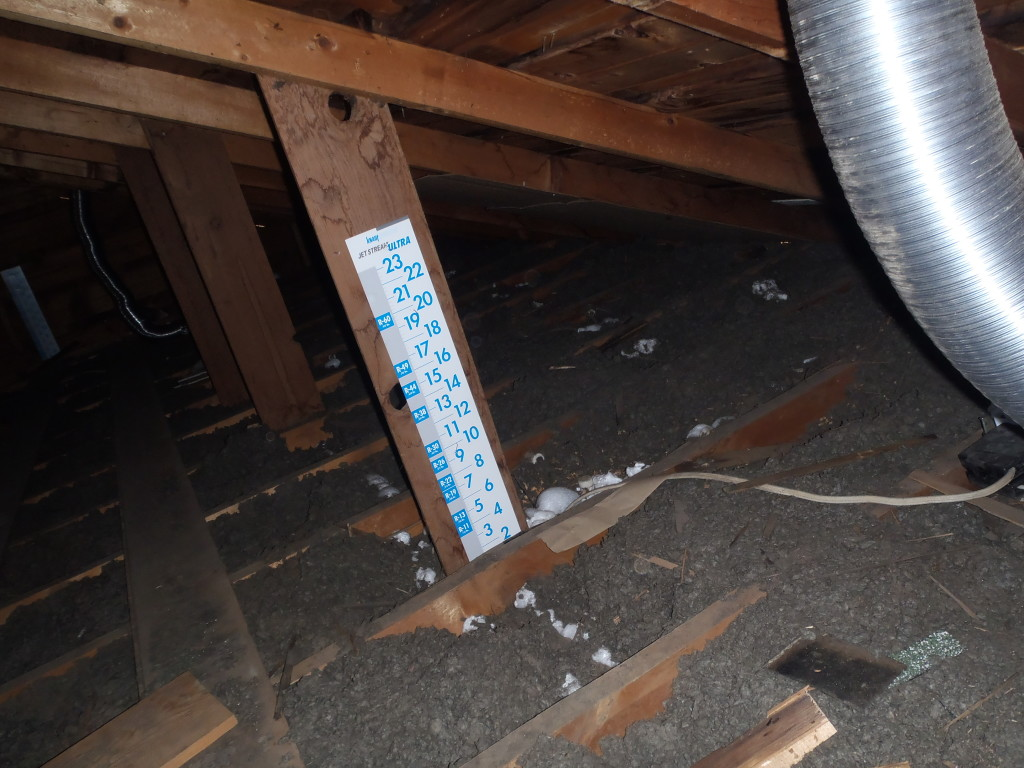 Example of an old home attic - before
