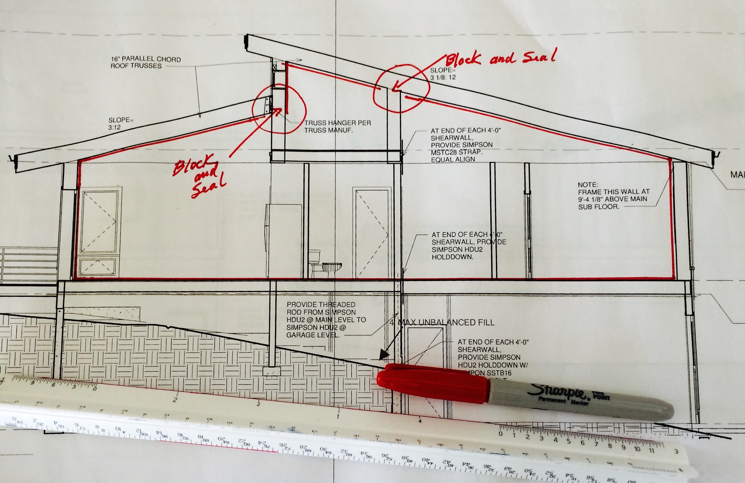 Defining the thermal boundary zero energy project for Envelope house plans